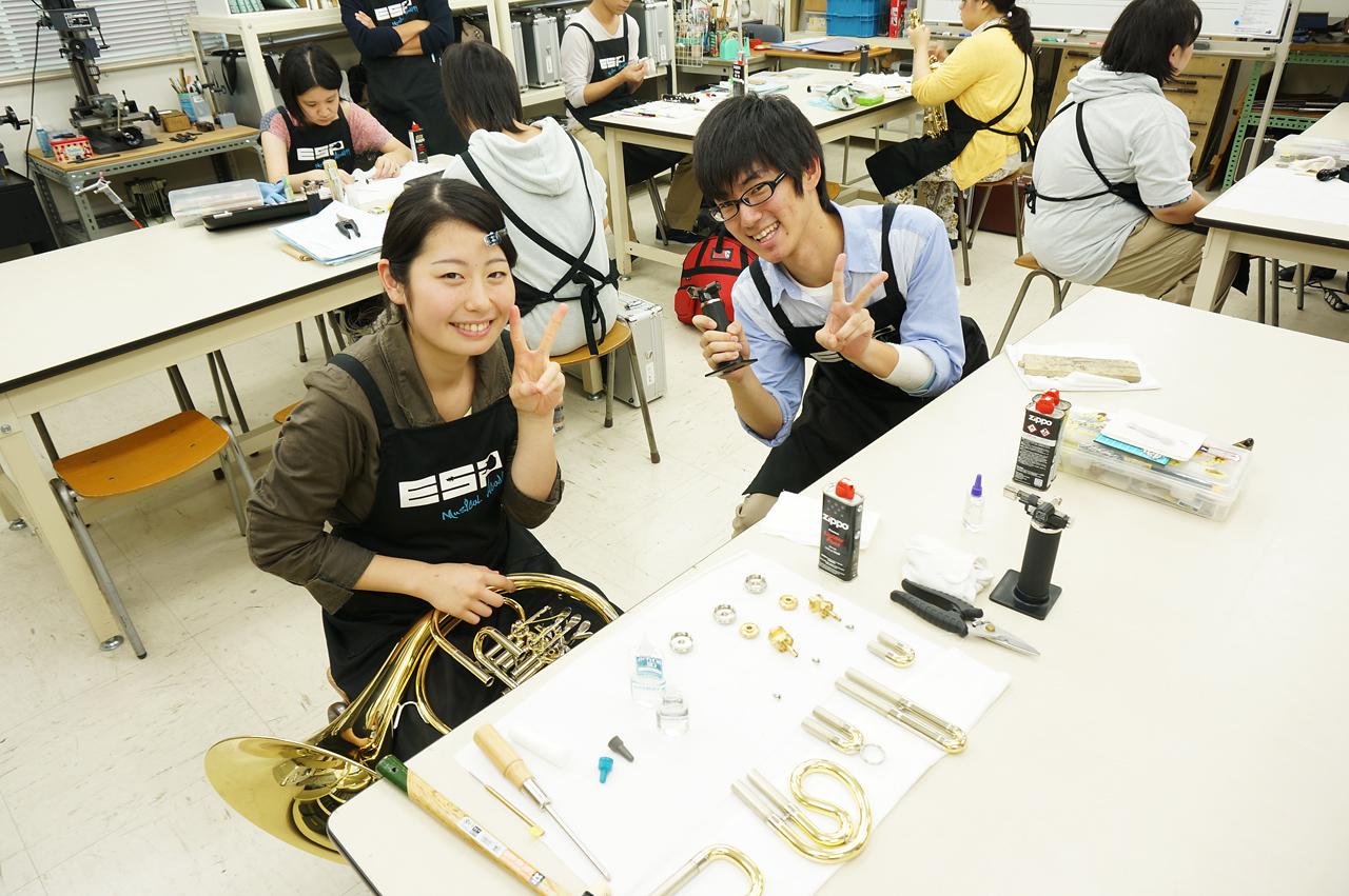 管・打楽器のリペアを仕事にしよう!|ESPミュージカルアカデミー管楽器リペア科