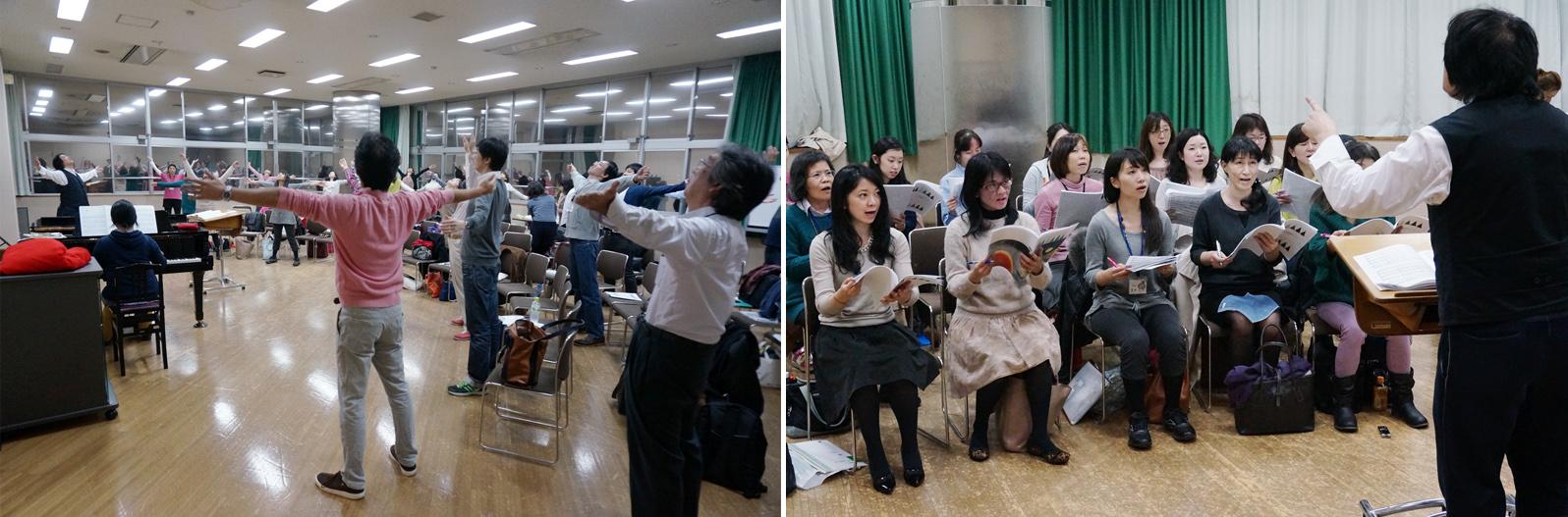 丸の内合唱団の練習風景1