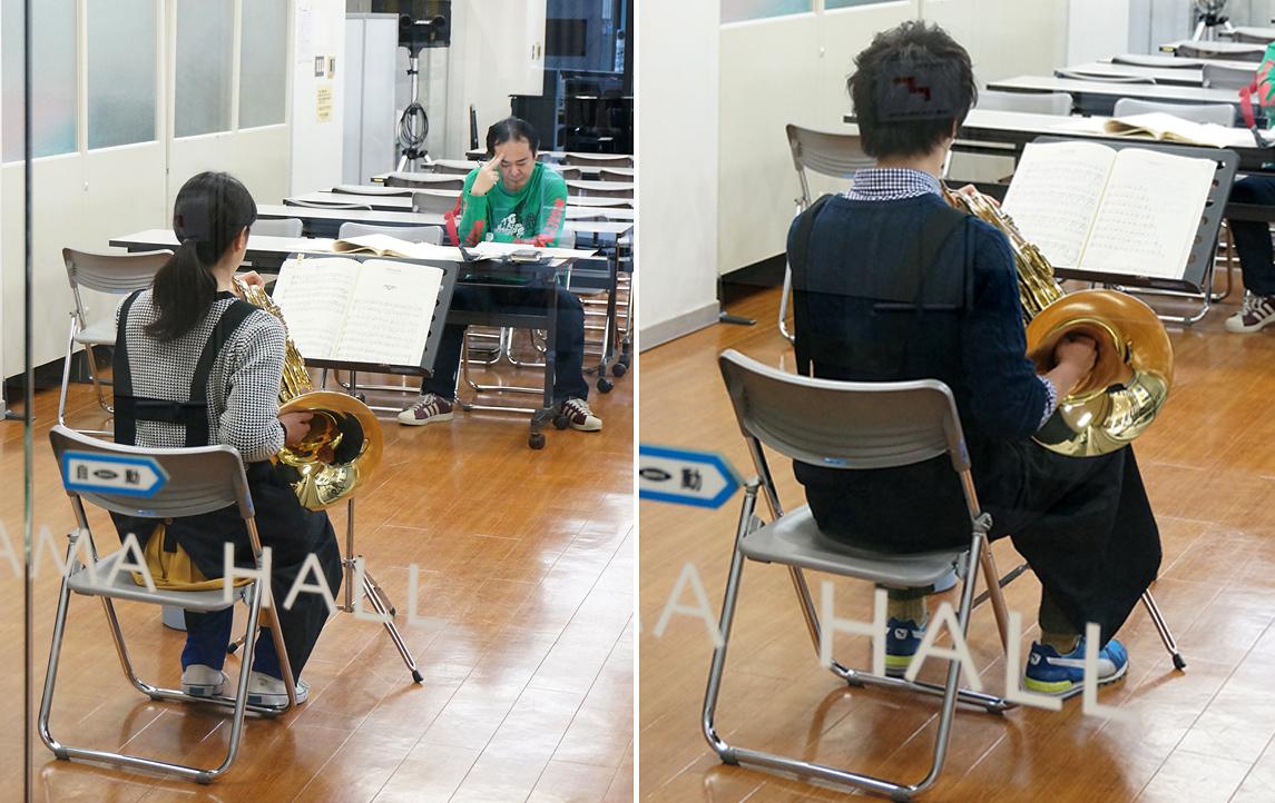 2年生は金管楽器の演奏のテスト中だった|島村楽器テクニカルアカデミー 管楽器リペア科