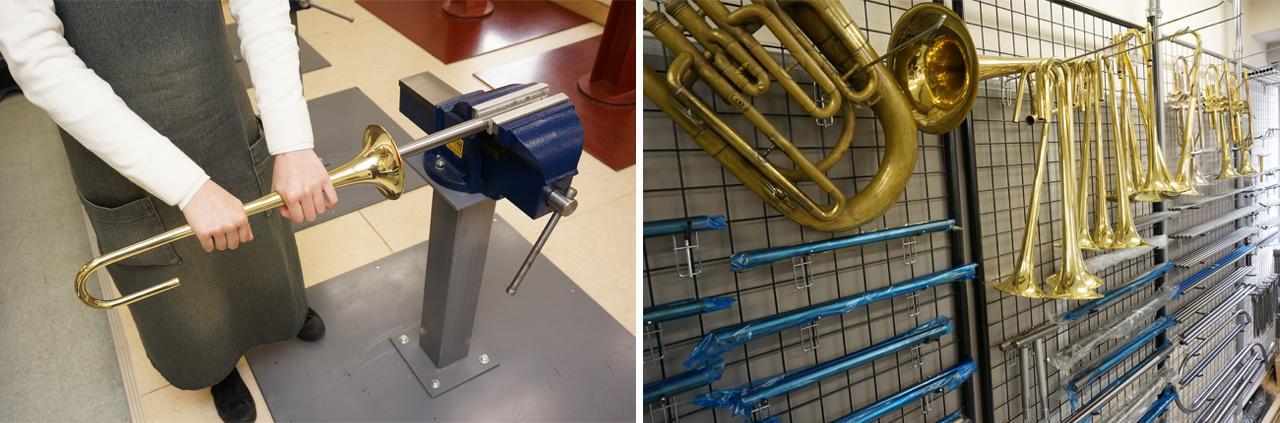 「金管加工室」は板金の技術を学ぶ場所|島村楽器テクニカルアカデミー 管楽器リペア科