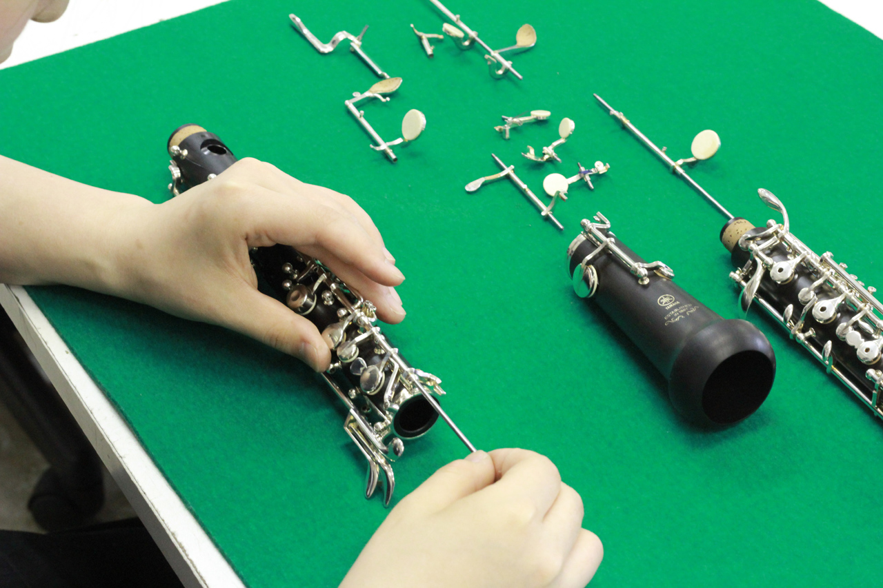 別科でオーボエリペアコースも。|島村楽器テクニカルアカデミー 管楽器リペア科