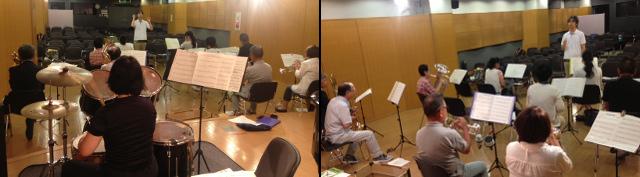 大人の吹奏楽部練習風景
