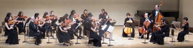 弦楽アンサンブルの発表会。宮地楽器新宿