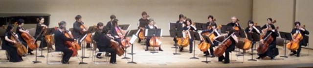 新宿でチェロ・アンサンブル。チェロのクラスの方との合奏です。