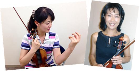 新宿で弦楽アンサンブル。講師陣。