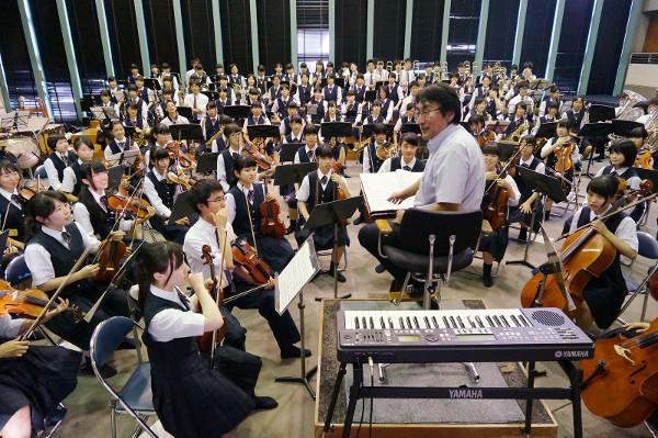 幕張総合高校シンフォニックオーケストラ部の皆さん!