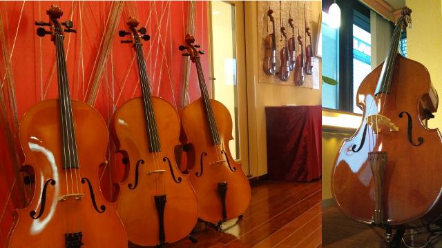 バイオリン、ビオラ、チェロ、コントラバスもレンタルあり。