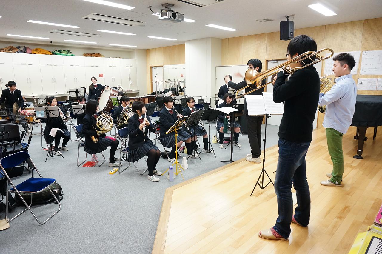 五商吹奏楽部の練習風景